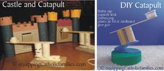catapult and castle: recycle crafts!