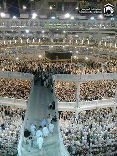Baytullah (Kaabah) @ Masjid al-Haraam @ Makkah al-Mukarramah Mecca Masjid, Masjid Al Haram, Beautiful Mosques, Beautiful Places, Mecca Sharif, Hajj Pilgrimage, Religious Photos, Mekkah, Islamic Architecture