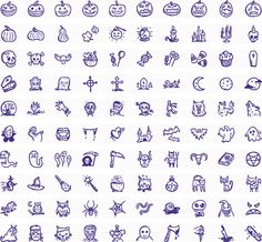 Spooky Icons — 100 hand-drawn Halloween vector icons by Hand-Drawn Goods #handdrawn #vector #icons #Halloween