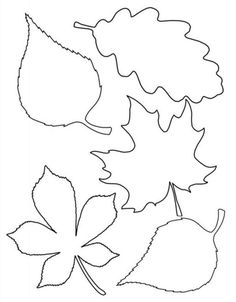 Leaf template # Easy Crafts fall 4 Easy Fall Garlands - A Beautiful Mess Fall Leaf Template, Leaf Template Printable, Printable Leaves, Flower Template, Bookmark Template, Leave Template, Free Printable, Leaf Coloring Page, Coloring Pages