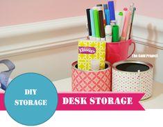 DIY storage: desk storage