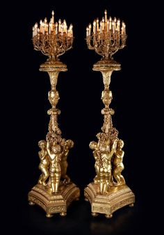 For Sale on - An important pair of monumental thirty-one light giltwood torchères after the model by Jacques Gondoin for the Hall of Mirrors At the Palace of Versailles. Chandeliers, Antique Chandelier, Chandelier Lamp, Antique Lighting, Baroque, French Royalty, Hall Of Mirrors, Palace Of Versailles, Vase Shapes