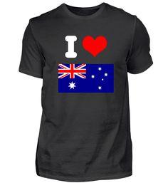 I love Australien Design Motiv Geschenk T-Shirt Basic Shirts, Mens Tops, Design, Fashion, Australia, Gifts, Moda, La Mode, Fasion