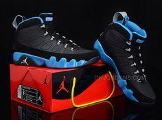 "40464955d578e8 Buy New Air Jordan 9 ""Slim Jenkins"" Black Metallic Silver-University Blue"