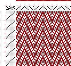 draft image: 16170, 2500 Armature - Intreccio Per Tessuti Di Lana, Cotone, Rayon, Seta - Eugenio Poma, 4S, 8T