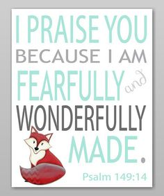 Look what I found on #zulily! Red & Aqua Fox 'I Praise You' Print by Farmhousefive Art for Kids #zulilyfinds