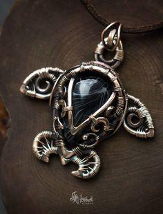 Turtle necklace Sea turtle jewelry Turtle pendant by ArtarinaShop