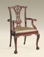 have 2 and 6 side Carved Polished Mahogany Finished Chippendale Armchair
