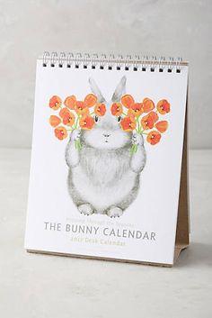The Bunny 2017 Desk Calendar