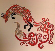 Autumn Breeze [Tribal Fox] by ~TheRebornWolf on deviantART #tribal #design #drawing #ink #tatoo