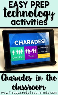 in the Classroom: Charades App Looking to integrate technology into the classroom? This iPad app is perfect for math centers or reading centers. Learn how to create and send to students!Charade Charade or charades may refer to: Teaching Technology, Technology Integration, Educational Technology, Technology Tools, Medical Technology, Energy Technology, Technology Websites, Technology Lessons, Educational Leadership