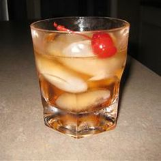 """Classic Old Fashioned Allrecipes.com-""""One of the great classic bourbon cocktails, the Old Fashioned was invented in Louisville, KY. Try bourbon, rye, or a blended whiskey in this cocktail. You can also sub one sugar cube for the simple syrup."""""""