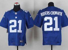 Nike New York Giants 21 Rodgers-Cromartie Blue Elite NFL Jerseys