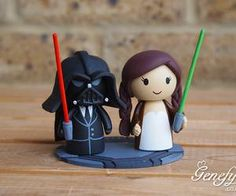 This has to be the cutest cake topper ever! :) star wars wedding - Google Search