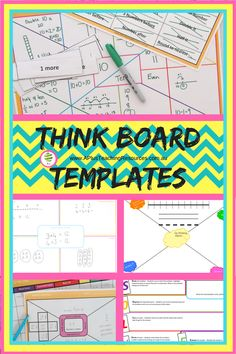 FREE think board template for teaching maths By A Plus Teaching Resources via @Useful1