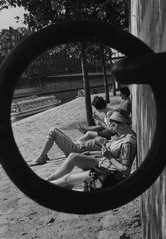 By the Seine, Paris, 1965. Uncredited/Getty