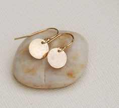 Little Gold Disc Earrings, Simple Gold Earrings, Gold Disc Earrings, Everyday Gold Earrings, Gold Fill Earrings, Dainty Gold Earrings on Etsy, $19.50