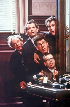 Harold Ramis, Bill Murray, Dan Aykroyd, and Rick Moranis in Ghostbusters II 1989