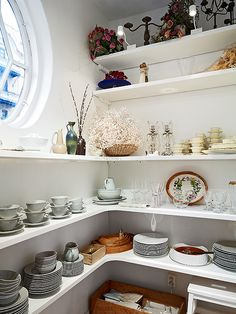 loving this butler's pantry with a window...