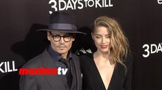 """Johnny Depp and Amber Heard """"3 Days to Kill"""" Los Angeles Premiere Arrivals"""