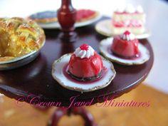 Crown Jewel Miniature's raspberry flans