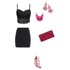 Girls Night Out by esmama on Polyvore featuring polyvore mode style T By Alexander Wang Jimmy Choo Thalia Sodi Alexa Starr