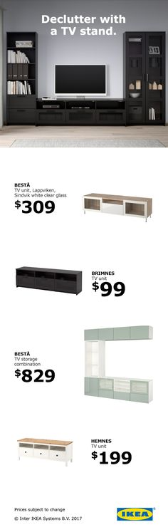 A TV stand can hold a lot more than your TV. It can double as a storage space for your living room. – Before and Afters Remodel Ideas Manly Living Room, Living Room Styles, Eclectic Living Room, Living Room Tv, Basement Inspiration, Room Inspiration, Living Room Storage, Storage Spaces, Media Storage