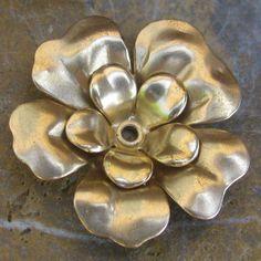 Brass Metal Flower Dimensional Metal Stamping Jewelry Making Supplies 1310 - 3 Pcs. $3.99, via Etsy.