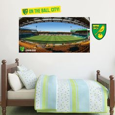 Official Licensed Football & Entertainment Wall Stickers - Norwich City Bedroom Football Gifts - The Beautiful Game Norwich City Football, Norwich City Fc, City Bedroom, Bedroom Decor, Bedroom Furniture, Mural Art, Wall Murals, Wall Art, Carrow Road
