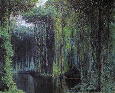 Armando Morales -  Subastan Selva tropical, 1988
