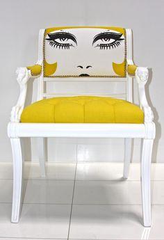 Tapicería anticonvencional #diseño #creatividad I see you #chair