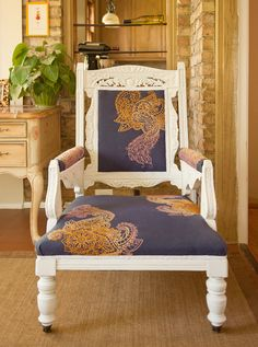 Embroidered Mendhika Chair from Urban Threads