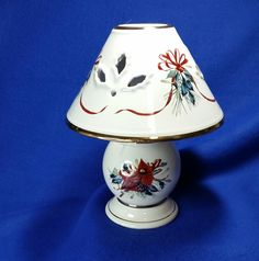 Vintage Winter, Vintage Christmas, Vintage Candle Holders, Beauty Full, Red Ribbon, Lamp Light, Tea Lights, Vintage Items, Etsy Shop