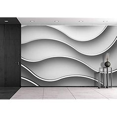 wall26 - 3d Abstract Pattern Wallpaper Geometric Background - Removable Wall Mural | Self-adhesive Large Wallpaper - 100x144 inches
