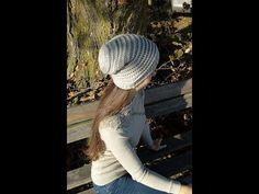 Háčkovaná homeleska I predĺžená čiapka l obvod 56 cm Crocheting, Youtube, Crochet Hooks, Ganchillo, Crochet, Youtubers, Youtube Movies, Knitting, Chrochet