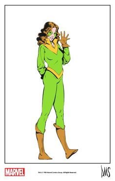 The Marvel Project    Kitty Pryde by Paul Smith from The Official Handbook of the Marvel Universe #1 (1983) remastered by The Marvel Project.