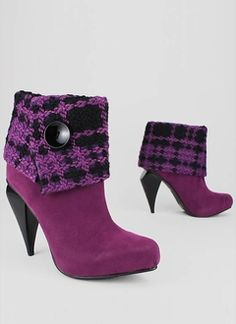 Plaid Cuff Booties from GoJane