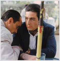 scene from Godfather II  Michael knew his brother had betrayed him/family.  You could see it in his eyes...brother was dead to him. Al Pacino was  awesome in this part!