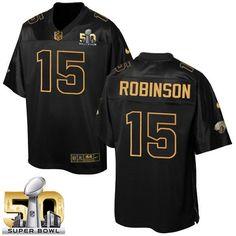 Men s Nike Jacksonville Jaguars  15 Allen Robinson Elite Black Pro Line  Gold Collection NFL Jersey 63ded654d