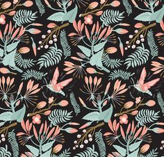 Seasonal Forest Pattern by Llew Mejia, via Behance