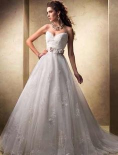 """Maggie Sottero - """"Jayla"""" Ball Gown in lace and tulle...oh yes!"""