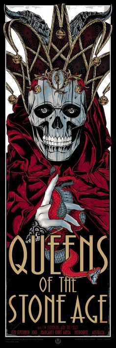 The Geeky Nerfherder: 'Queens Of The Stone Age' prints by Rhys Cooper & Teniele Sadd Rhys Cooper, Omg Posters, Rock Band Posters, Pop Culture Art, Music Images, Concert Posters, Music Posters, Stone Age, Skull Art