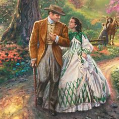 Thomas Kinkade Stained-Glass Wall Decor: Gone With The Wind - detail