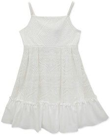 Rare Editions Little Girls' White Lace Sundress