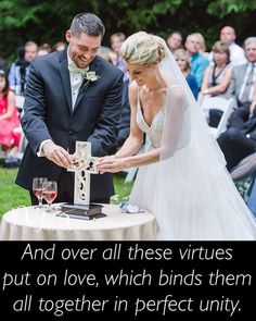 We love this picture of a couple assembling their Unity Cross at their wedding!