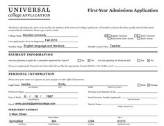 personal statements for college admission