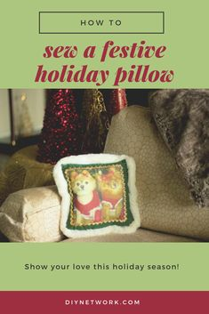 You love the holidays. You love your pets. Show your love by sewing a festive holiday pillow featuring your favorite furry companions. Sewing Projects, Projects To Try, Love Your Pet, Holiday Festival, Holiday Crafts, Festive, Diy Crafts, Holidays, Pillows