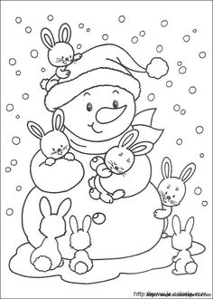 Free Printable Winter Coloring Pages - Free Printable Winter Coloring Pages, Winter Time Printable Coloring Pages Free Printable Winter Coloring Pages Winter, Christmas Coloring Pages, Coloring Book Pages, Printable Coloring Pages, Coloring Pages For Kids, Kids Coloring, Illustration Noel, Christmas Embroidery, Winter Colors
