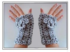 Crochet Mitts, Crochet Gloves, Thread Crochet, Crochet Scarves, Easy Crochet, Crochet Purses, Diy Crochet Projects, Fingerless Mitts, Crochet Blanket Patterns