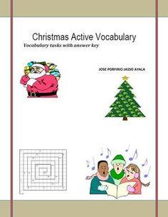 Wonderful set of vocabulary tasks related to Christmas.